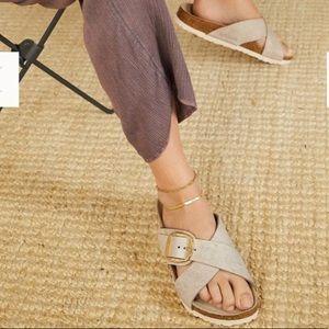 Birkenstock Siena Metallic Big Buckle Sandals